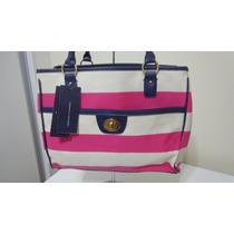 Bolsa Feminina Tommy Hilfiger Bege Pink Lançamento 2015 Orig