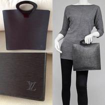 Bolsa Louis Vuitton Autêntica Em Couro Epi Preta Original Lv