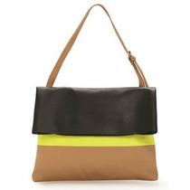 Bolsa De Couro Tricolor - 3 Lindos Modelos Em Promoção