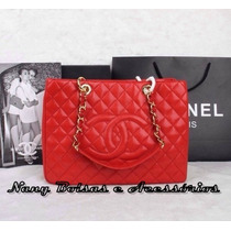 Bolsa Chanel Shopper Vermelha