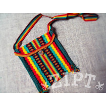 Bolsa Transversal Peruana - Cor Reggae   Rastafari Feminina