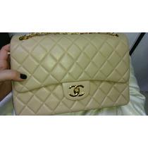 Bolsa Jumbo Chanel Maravilhosa Em Couro Italiano