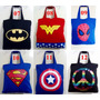 Bolsas De Tecido, Super Heróis, Várias Estampas, Lindas.