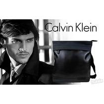 Bolsa Masculina Calvin Klein Executiva Messenger Ck Couro