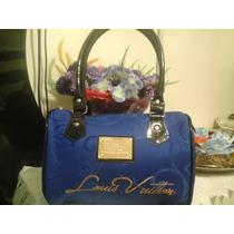 Linda Bolsa Louiz Vuitton Bau Azul + Frete Grátis