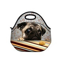 Bolsa Lancheira Sacola Térmica Lanche Pug Cachorro Cão