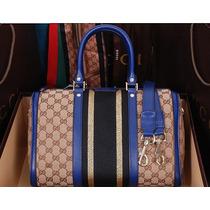 Bolsa Gucci Média Boston Original Na Caixa C Cartão 6 Cores