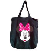 Bolsa Tecido C/ Forro Interno / Ziper - Disney - Minie