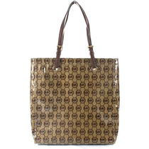 Bolsa Michael Kors Original Mono Coated Jacquard Tote Bag