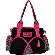 Bolsa Hello Kitty Preta Pink Transversal Tiracolo Rosa Nova