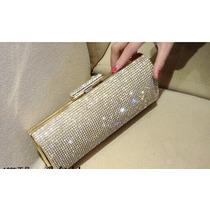 Bolsa Feminina Carteira De Festa Com Diamantes - Importado