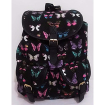 Mochila Borboleta Feminina Universitária Butterfly