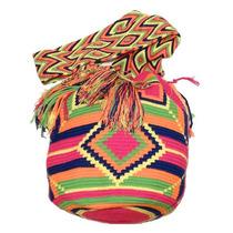 Bolsa Wayuu Pink Carbono - Colombiana