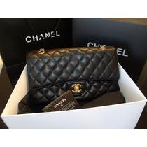 Chanel 2.55 Preta Couro Legitimo Caviar/ Lambskin Na Caixa