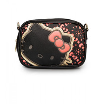 Bolsa Pequenab Hello Kitty Preto E Rosa Sanrio Loungefly