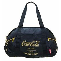 Bolsa Grande Coca Cola Atlanta Preta/dourada