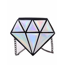 Bolsa Diamante Feminina Divertida - Bolsa Moda 3d Geometrica