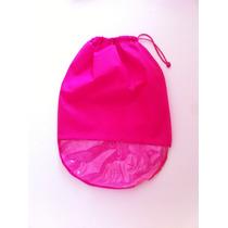 Saco Para Sapatos Em Tnt Rosa C/ Visor Plástico-kit C/ 12u.