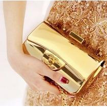 Bolsa Clutch Acrilica Ouro - Pronta Entrega!!