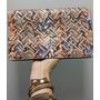 Bolsa Clutch Carteira Em Verniz Animal Print