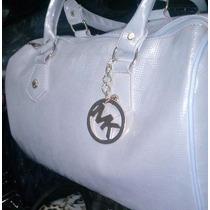 Bolsa Importada Feminina Bauzinho + Relógio Dourado Mk