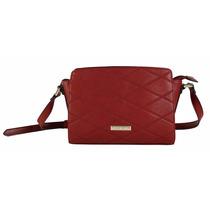 Bolsa Pequena Transversal Vermelha Em Couro Chenson