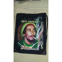Mochila Bolsa Tipo Saco Bob Marley Diferente