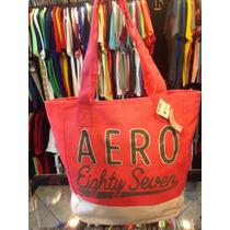 Bolsa Sacola Aeropostale Rosa Com Branco Lancamento Original