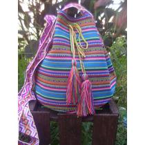 Bolsa Saco Peruano Artesanal Wayuu Étnica Hippie Trend Boho