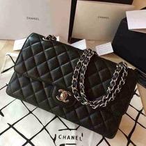 Bolsa Chanel 2.55cm Caviar Preta - Frete Gratis