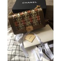 Bolsa Chanel Le Boy Original Couro Lambskin 25cm Na Caixa!