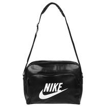 Bolsa Feminina Carteiro Couro Nike Preta Azul Vermelha