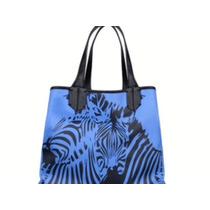 Bolsa Azul Royal E Preta Lellis