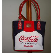 Bolsa Grande Original Coca-cola Tecido Tipo Neoprene Forrada