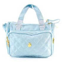 Bolsa Maternidade Anne Classic Matelassada Azul Master Bag