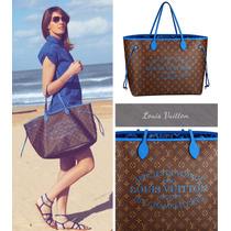 Bolsa Louis Vuitton Neverfull Ikat Azul Gm Rara!!! Fte Grati
