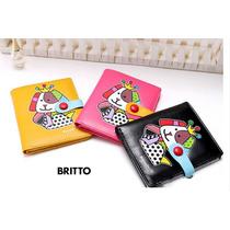 Carteira Pequena Romero Britto - Dog / Coraçao. 3 Cores
