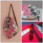 Bolsa-toalha Floral Pink/ Marinho