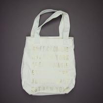 Bolsa Abercrombie & Fitch Off White100% Original E Importada