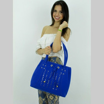 Bolsa Em Couro Sintético Fbf Top 790-950 Azul Royal