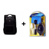 Mochila Fotografica Camera Case Sony Nikon + Kit De Limpeza