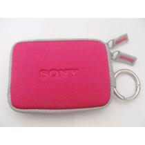Capa Case Sony Cyber-shot W580 W570 W560 W550 Original Rosa