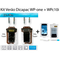 Kit Bolsa Capa Aquatica Prova Dagua Dicapac Wpone + Wpc10i