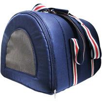 Bolsa Para Passeio - Cães E Gatos - Azul. Tamanho M
