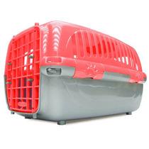 Caixa De Transporte Travel Pet Vermelha Nº3,tam M- Cães Gato