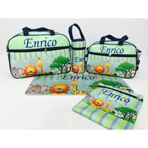 Kit 5 Pçs Bolsa Bebê Baby Bag Maternidade Personalizada