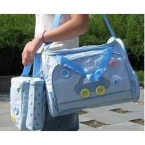 Kit Bolsa Maternidade Bebê Blue Car 4 Peças