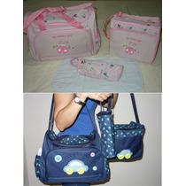 Kit Bolsa/mala Maternidade/bebe/nenem 4 Pçs Pronta-entrega!