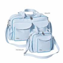 Kit Bolsa Maternidade Bebê Menino Azul Requinte 100% Pvc