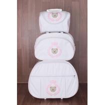 Kit Bebê Maternidade 3 Peças ( Mala Com Rodinhas)